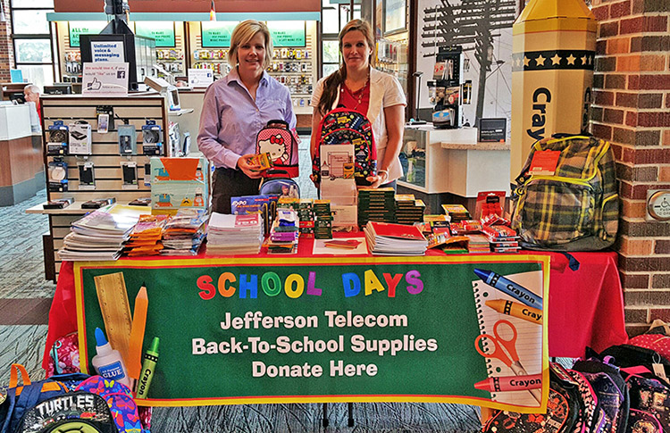 Jefferson Telecom School Supply Drive 2016